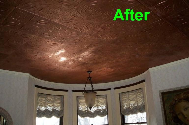 Victorian Ceiling Tile Project In Pittsburgh Pennsylvania