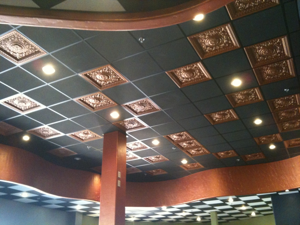 Faux Copper Drop Ceiling Tiles Elk Grove California